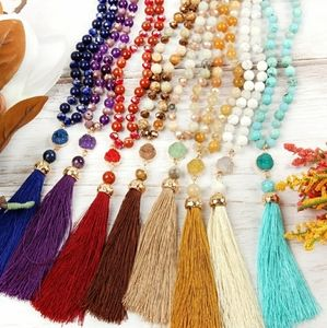 Jewelry - TASSEL NATURAL STONE NECKLACE